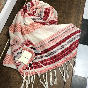 New With Tags Lucky Brand Fringe Scarf